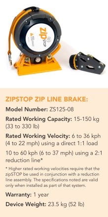 ZIPSTOP ZIP LINE BRAKE